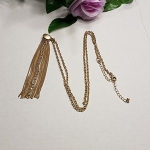 Premier Jewelry gold tassel necklace